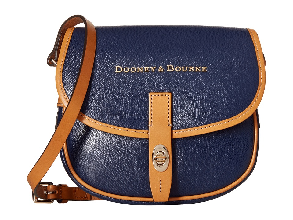 Dooney & Bourke - Claremont Field Bag (Navy/Butterscotch Trim) Cross Body Handbags