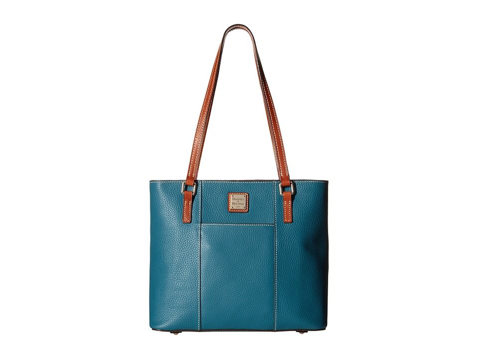 Dooney amp Bourke Pebble Leather New Colors Small Lexington Shopper Celadon/Tan Trim Tote Handbags