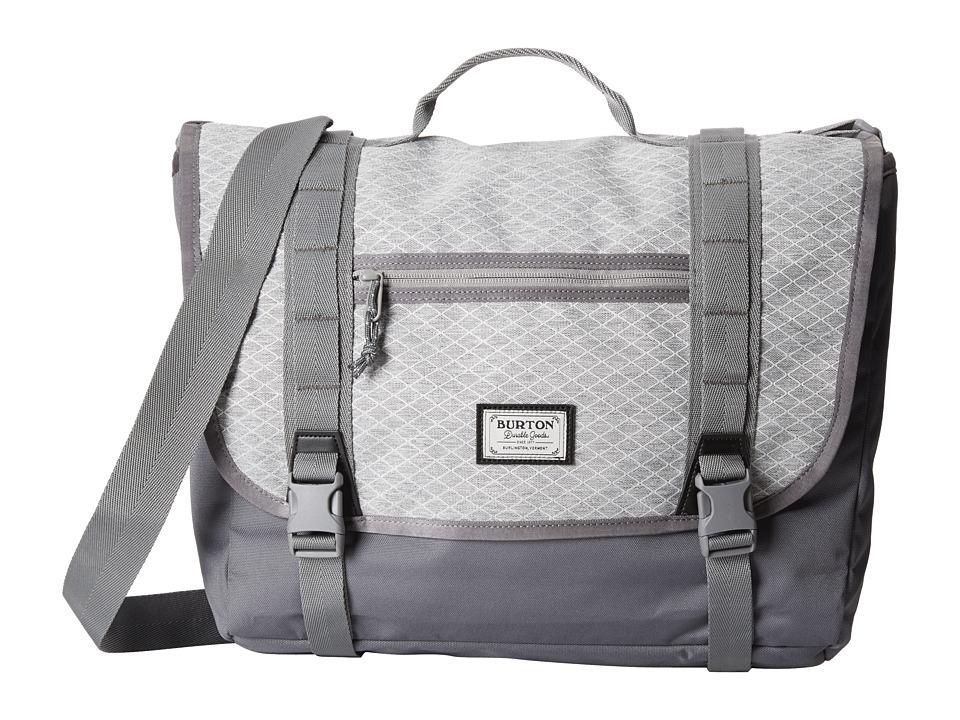 Burton - Flint Messenger (Grey Heather Diamond Ripstop) Messenger Bags