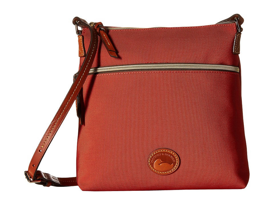 Dooney amp Bourke Nylon Crossbody Brick/Tan Trim Cross Body Handbags