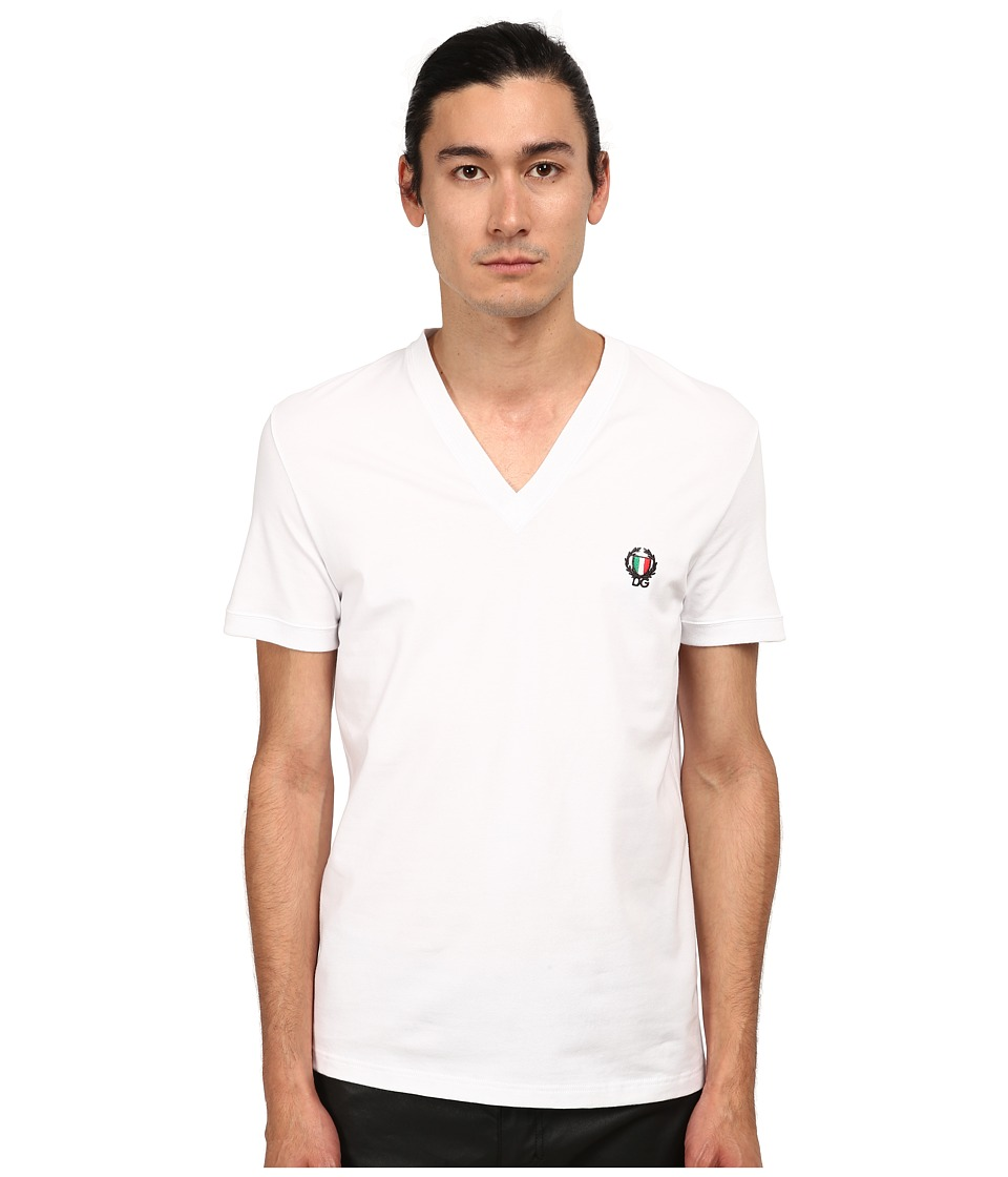 Dolce & Gabbana - Sport Crest V-Neck T-Shirt