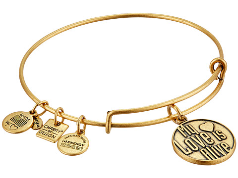 Alex and Ani Charity by Design My Love is Alive Charm Bangle - Rafaelian Gold Finish