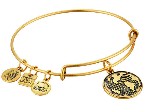 Alex and Ani Charity by Design Make Your Mark Charm Bangle - Rafaelian Gold Finish