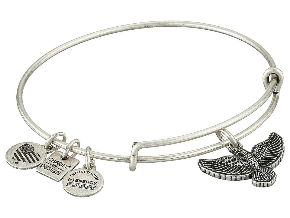 Alex and Ani - Charity by Design Spirit of the Eagle Charm Bangle (Rafaelian Silver Finish) Bracelet