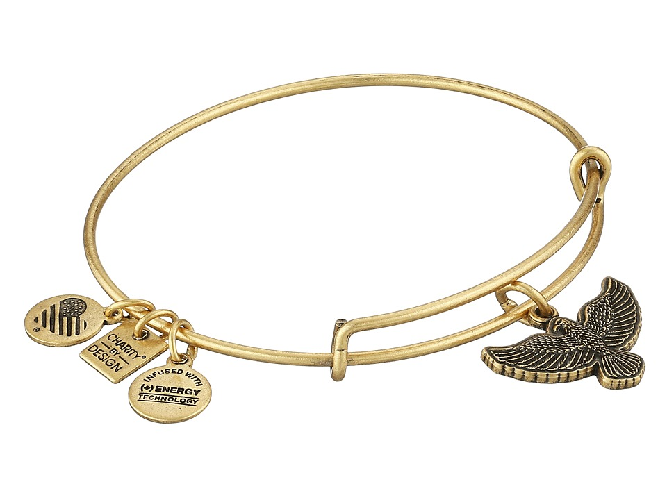 Alex and Ani - Charity by Design Spirit of the Eagle Charm Bangle (Rafaelian Gold Finish) Bracelet