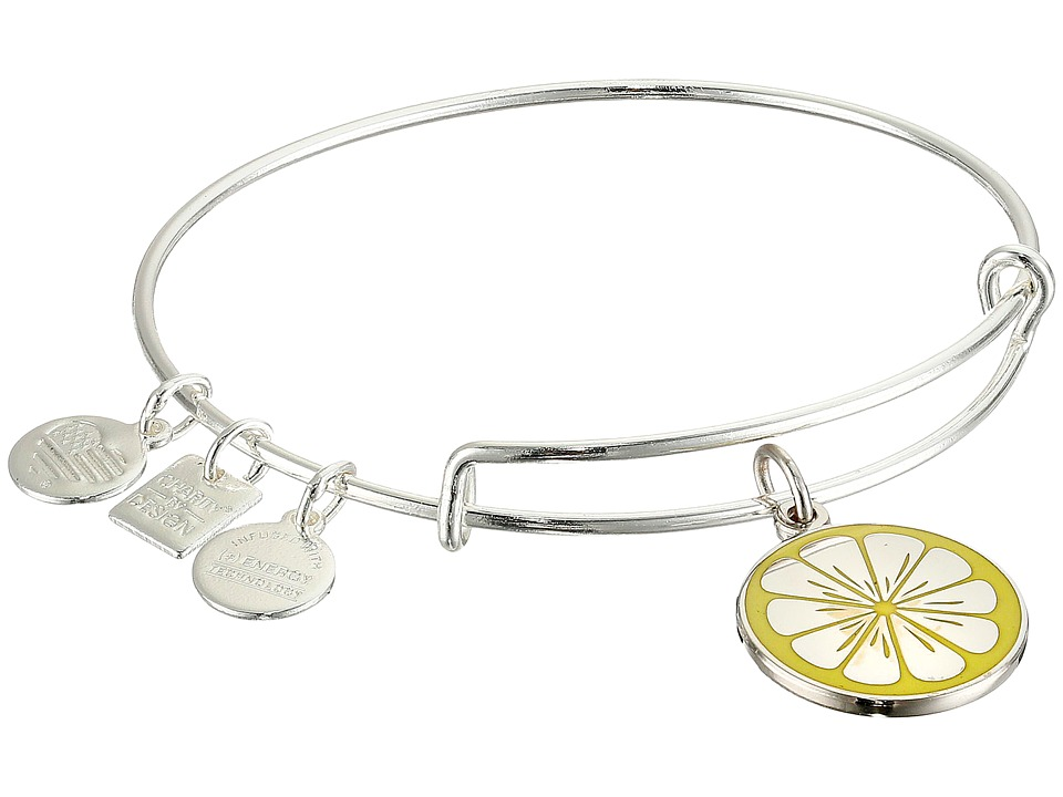 Alex And Ani Charity by Design Zest for Life II Charm Bangle (Shiny Silver Finish) Bracelet
