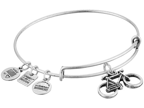 Alex and Ani Charity by Design Bike Charm Bangle - Rafaelian Silver Finish