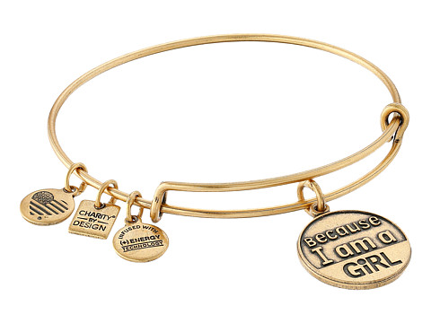 Alex and Ani Charity by Design Because I am a Girl Charm Bangle - Rafaelian Gold Finish
