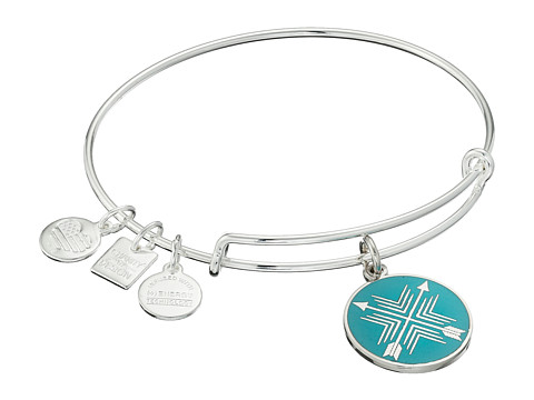 Alex and Ani Charity by Design Arrows of Friendship Charm Bangle - Shiny Silver Finish