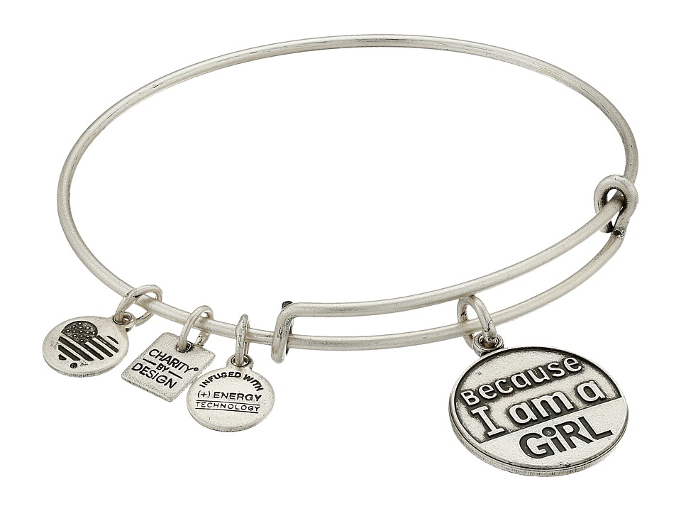 Alex and Ani - Charity by Design Because I am a Girl Charm Bangle