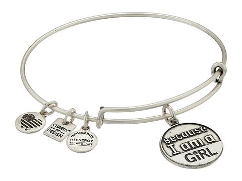 Alex and Ani Charity by Design Because I am a Girl Charm Bangle - Rafaelian Silver Finish