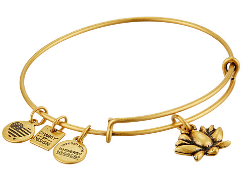 Alex and Ani Charity by Design Lotus Blossom Charm Bangle - Rafaelian Gold Finish