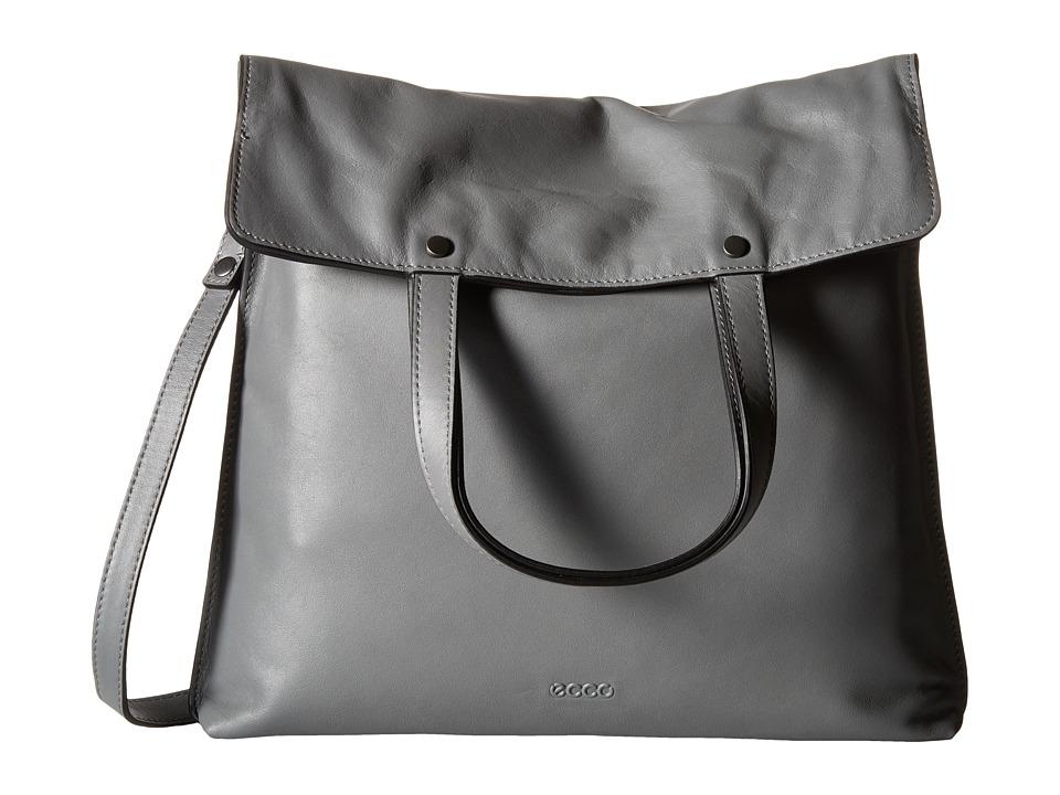 ECCO Sculptured Folding Tote Titanium Tote Handbags