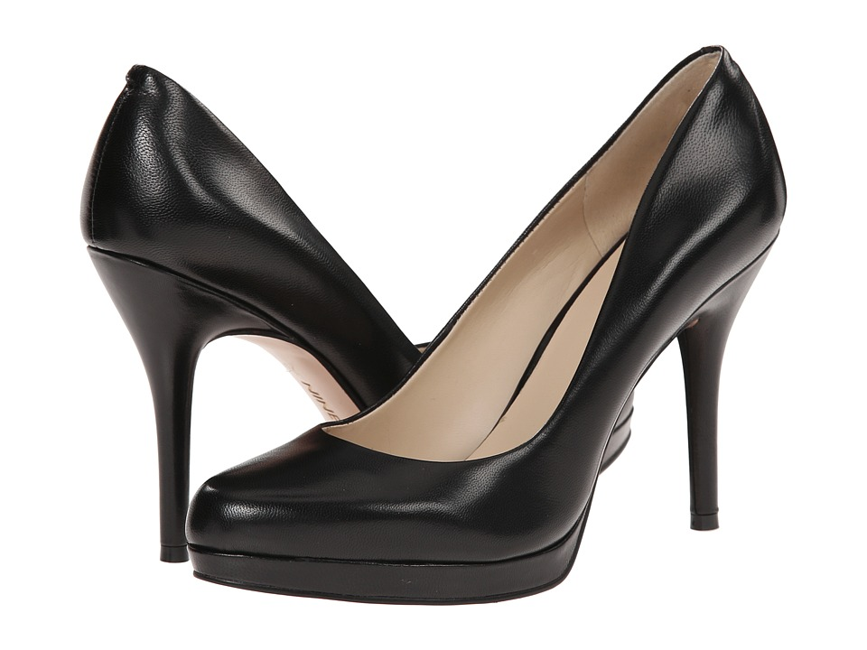 Nine West - Kristal Pump (Black Leather) Womens Shoes