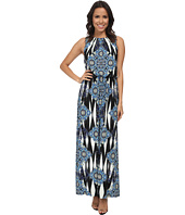 London Times - Ikat Medallion Blouson Maxi