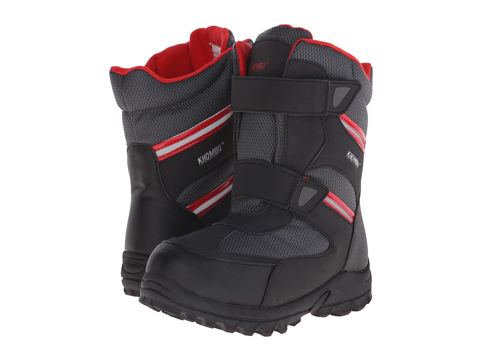 Khombu Kids Board 2 Strp Little Kid/Big Kid Black/Red Boys Shoes