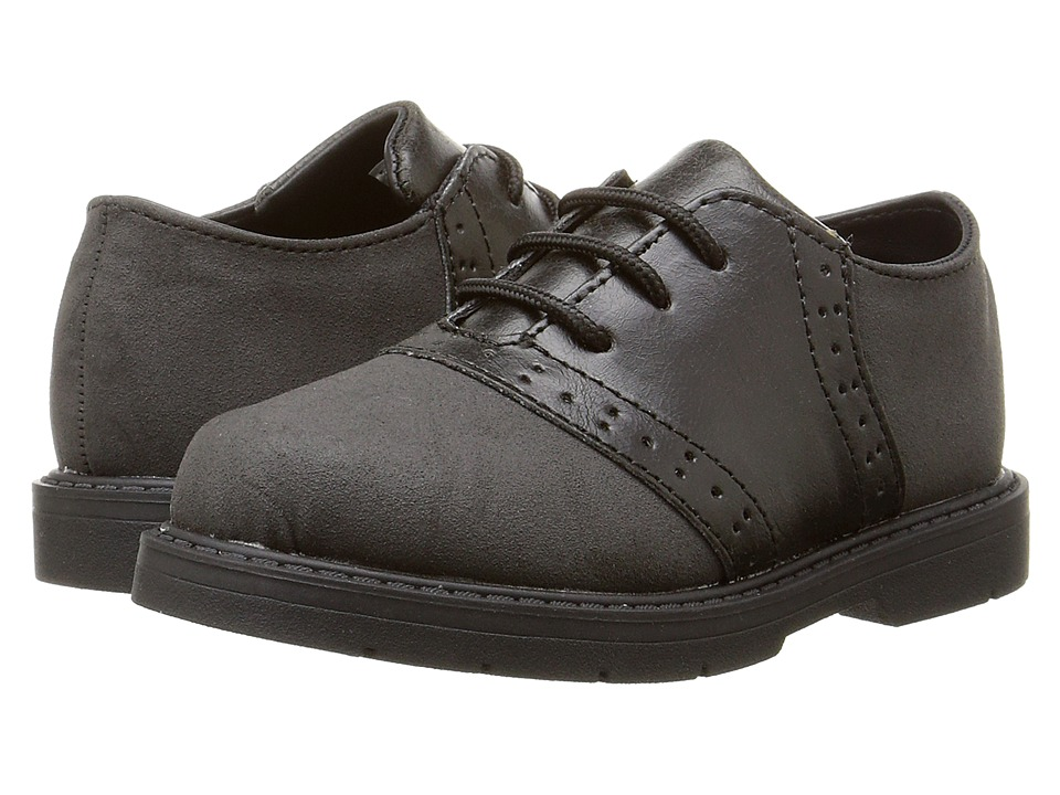 Baby Deer Oxford Lace-Up (Infant/Toddler) (Black) Boys Shoes