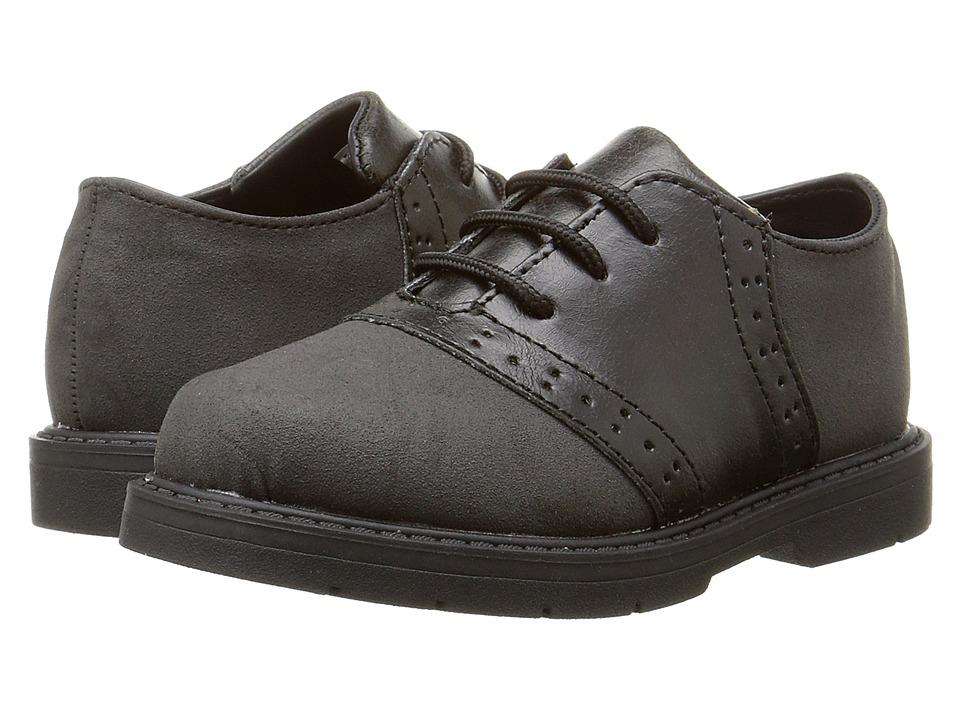 Baby Deer Oxford Lace Up Infant/Toddler Black Boys Shoes