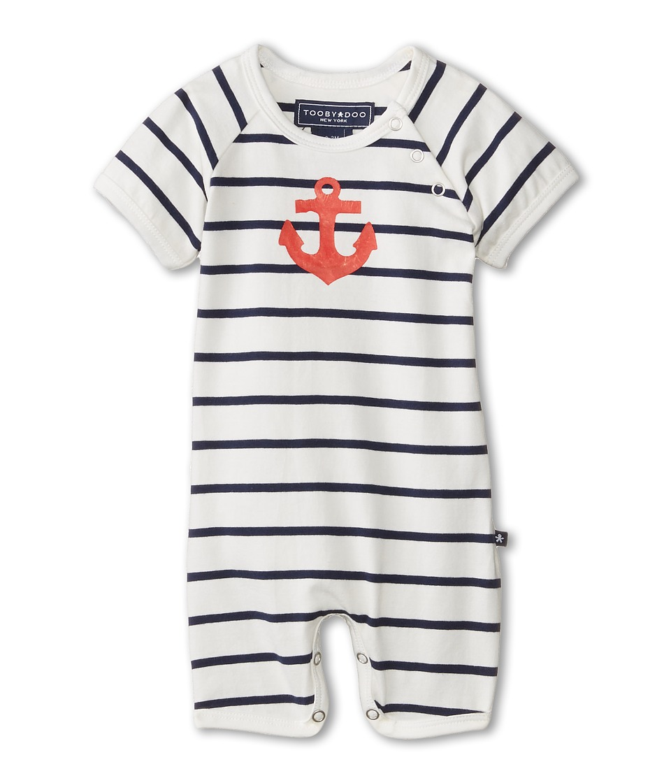 Toobydoo - Anchor Shortie (Infant) (Blue) Kids Jumpsuit & Rompers One Piece