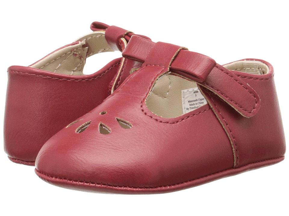 Baby Deer T Strap Infant Red Girls Shoes