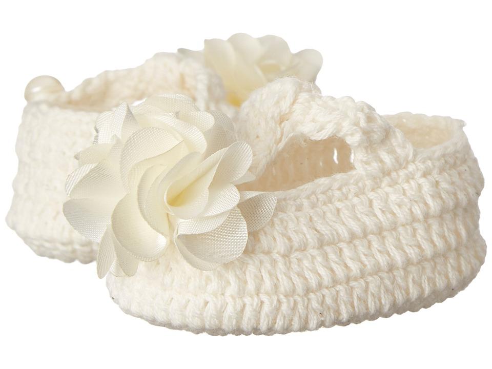 Baby Deer Crochet Maryjane Infant Ivory Girls Shoes