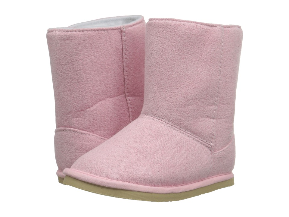 Baby Deer - Suede Boot (Infant/Toddler) (Pink) Girls Shoes