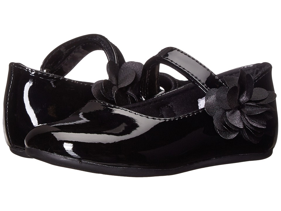 Baby Deer Patent Maryjane (Infant/Toddler) (Black) Girls Shoes
