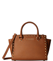 MICHAEL Michael Kors - Selma Stud Medium Top Zip Satchel