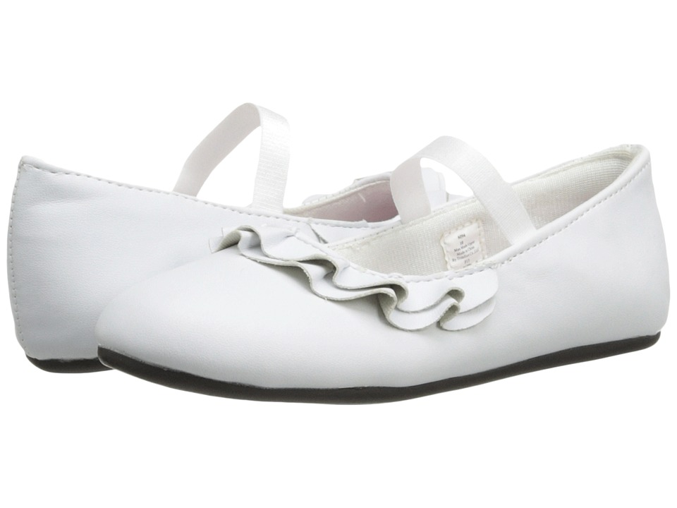 Baby Deer Ruffle Skimmer Infant/Toddler White Girls Shoes