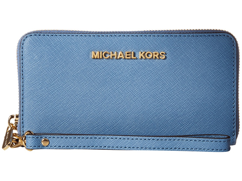 MICHAEL Michael Kors - Jet Set Travel Large Mlt Funt Phone Case (Cornflower) Clutch Handbags