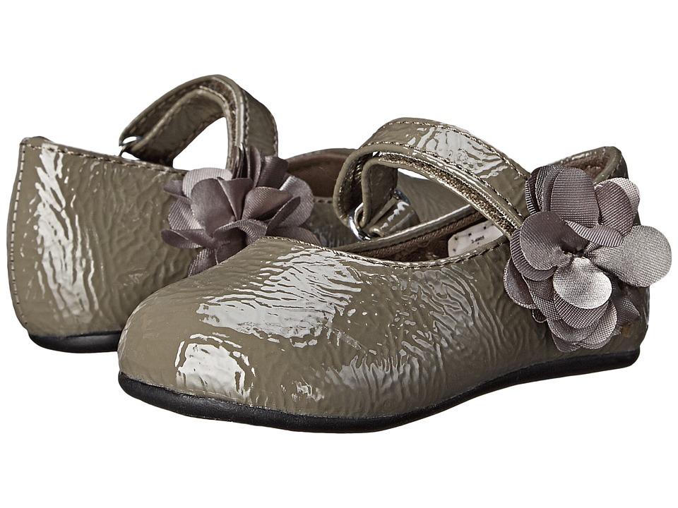 Baby Deer Skimmer Patent Infant/Toddler Gray Girls Shoes