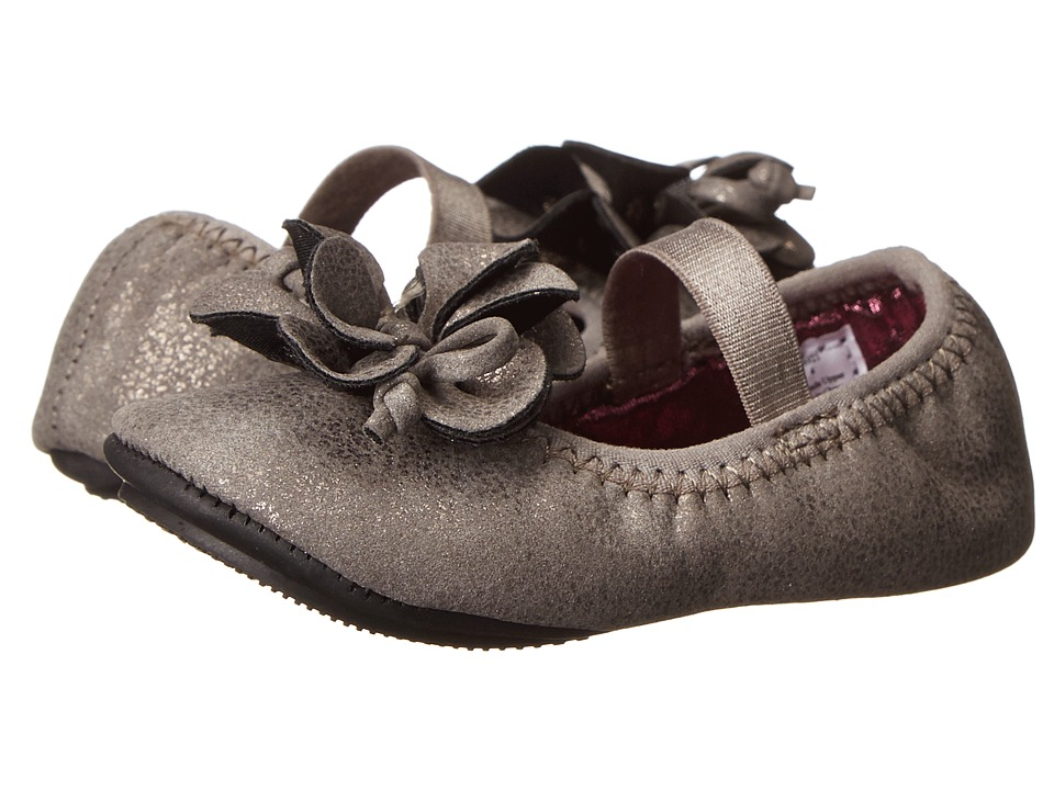 Baby Deer Metallic Foldable Ballet Infant/Toddler Taupe Girls Shoes