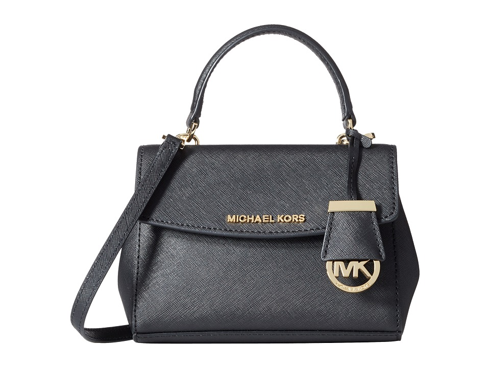 MICHAEL Michael Kors - Ava Extra Small Crossbody (Black) Satchel Handbags