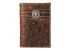 Ariat Cross Concho Ostrich Tri-Fold Wallet