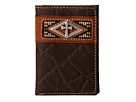 Ariat Diamond Cross Concho Tri-Fold Wallet