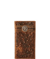 Ariat - Cross Concho Ostrich Rodeo Wallet
