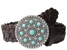 Ariat Turquoise Concho Buckle Braided Belt