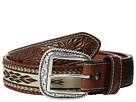 Ariat Embossed Tab Ribbon Inlay Belt