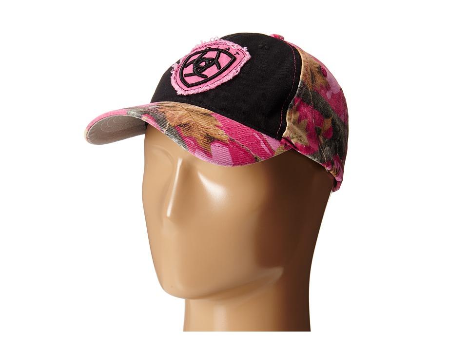 Ariat 3D Logo Cap Black/Pink Camo Caps