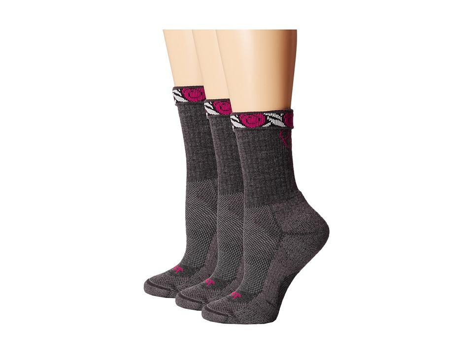 Ariat Light Hiker Crew Socks (Gray) Women