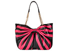 Betsey Johnson Bow Tails Satchel (Fuchsia)