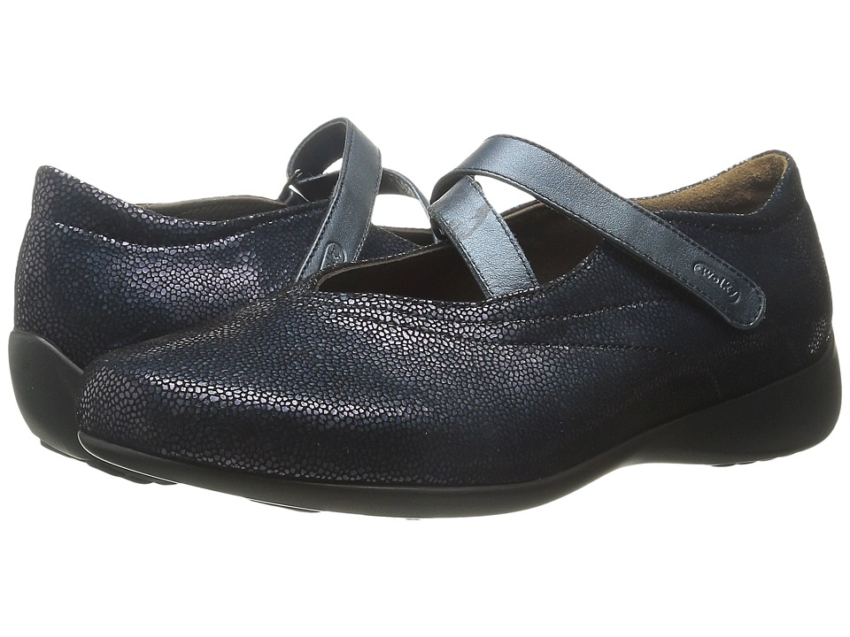 Wolky Passion Blue Caviar Womens Flat Shoes