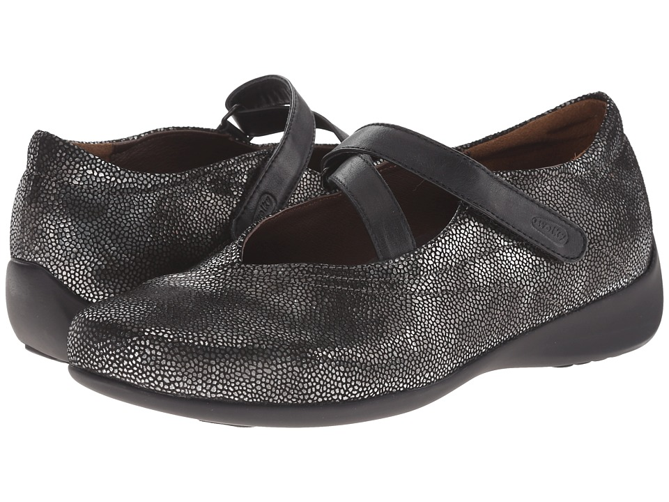 Wolky Passion Black Caviar Womens Flat Shoes