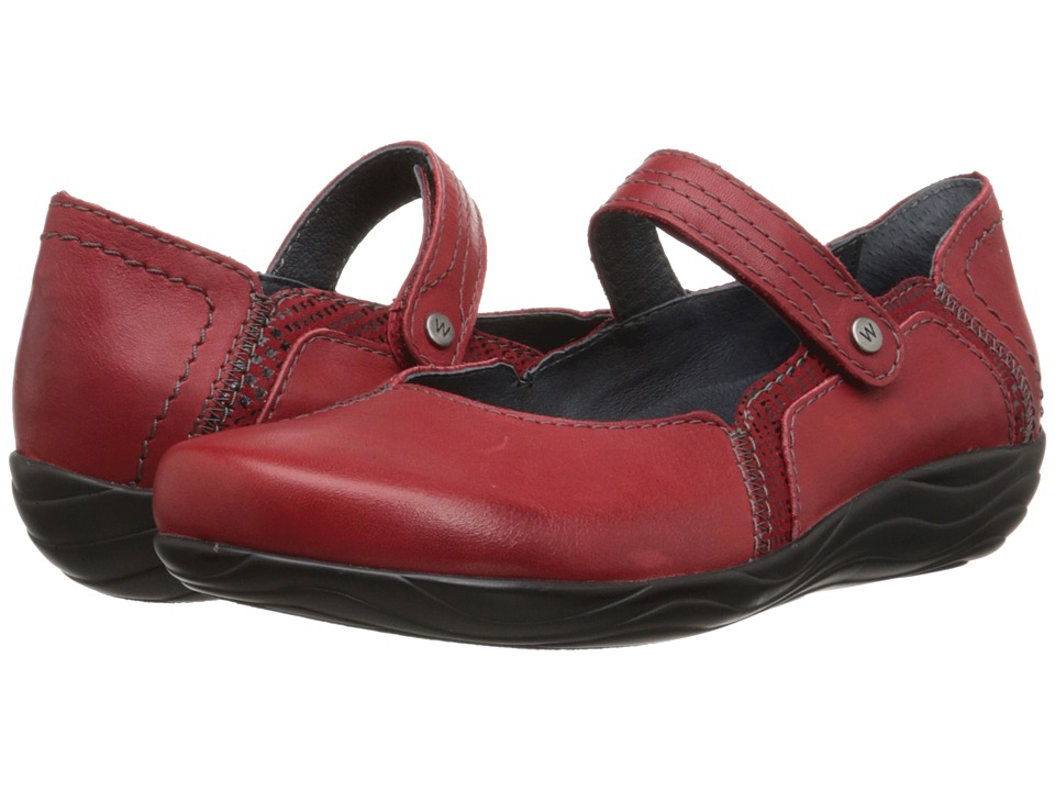 Wolky Gila Red Mighty/Dessin Womens Shoes