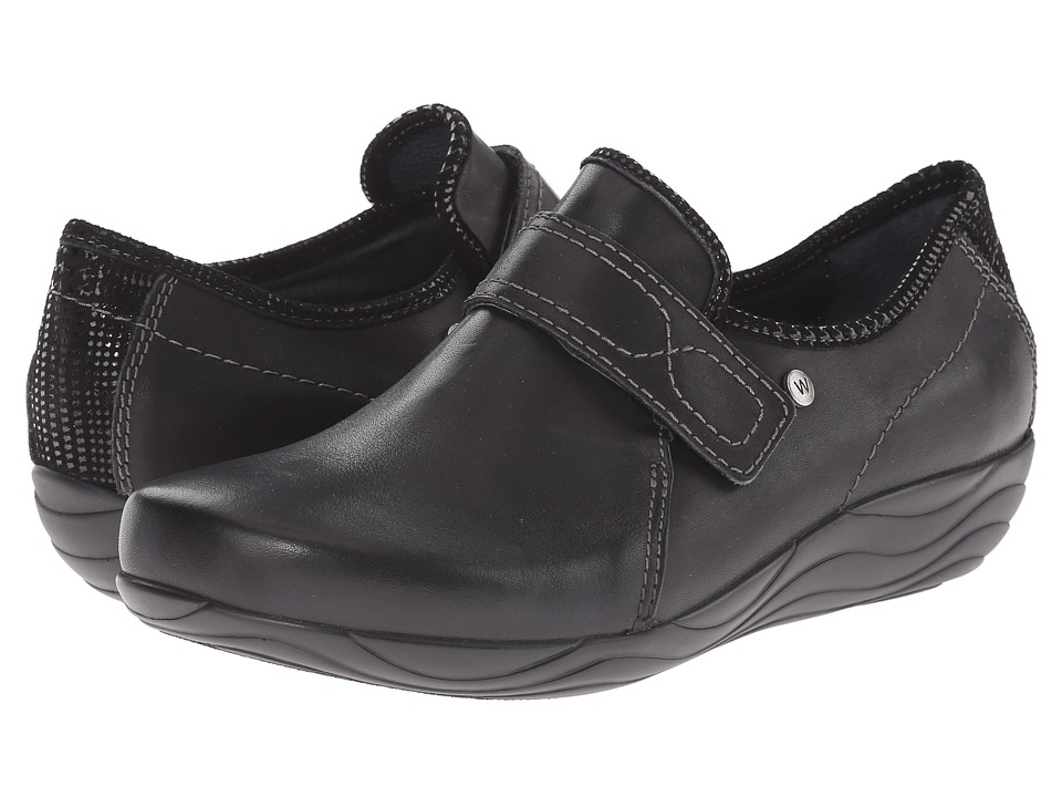 Wolky Desna Black Mighty/Dessin Womens Shoes