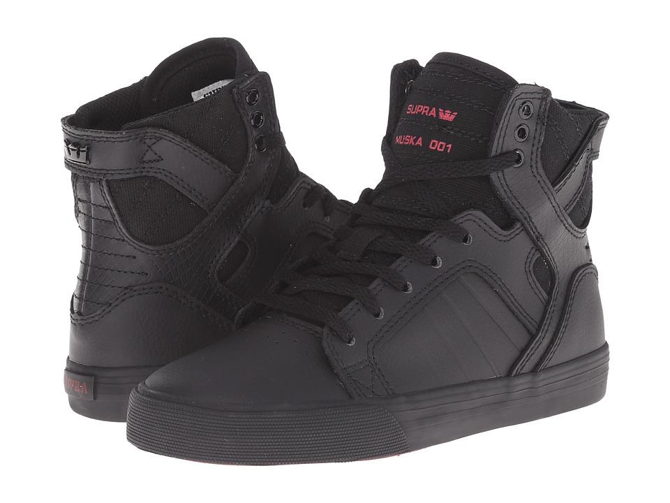 Supra Kids Skytop Little Kid/Big Kid Black Leather Boys Shoes