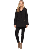 Ellen Tracy - Snap Front Hooded Soft Shell Coat