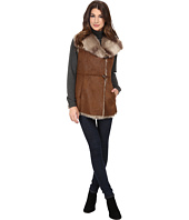 Ellen Tracy - Faux Shearling Vest w/ Toggle Closure