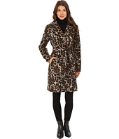 Ellen Tracy - Leopard Printed Wool Belted Wrap