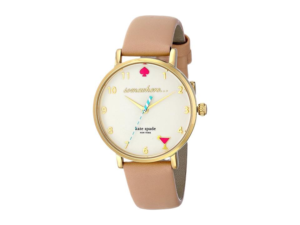 Kate Spade New York - Metro 5 OClock - 1YRU0484 (Gold/Vachetta 1) Watches